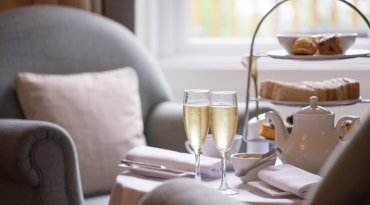 Beaulieu Hotel or Moorhill House Hotel Champagne afternoon tea